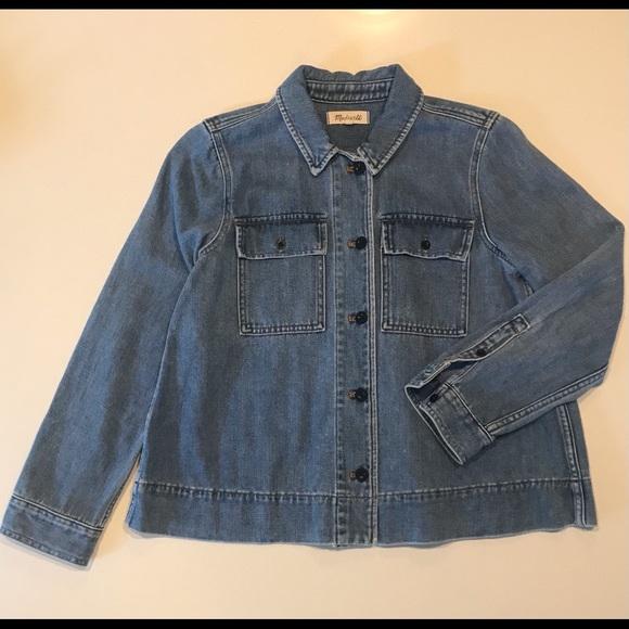 Madewell Denim Jean Jacket: chore coat, swing coat